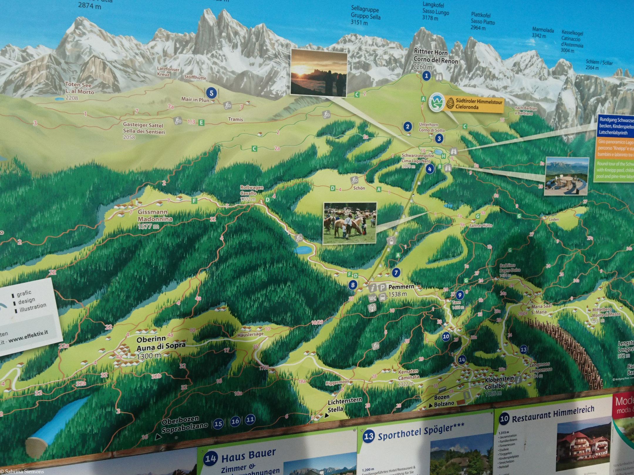 Wheelchair Tours Wheelchair Rittner Horn Hiking Map-1