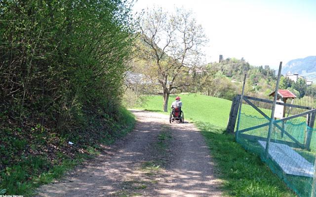 Wheelchair-Tours-Wheelchair-Eisacktal-Schnaggenkreuz-Weg-nach-Proesels