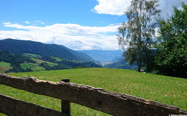 Itinerari in sedia a rotelle-Eisacktal-Schoenblick-Schnaggenkreuz-Ausblick-Bozen-2