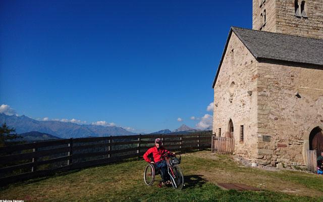 Wheelchair-Tours-Wheelchair-Jenesia-Langfenn-Church-Langfenn-with-Walter