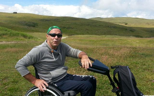 Wheelchair-Tours-Wheelchair-Seiser-Alm-Puflatsch-Puflatscherhutte-with-Walter
