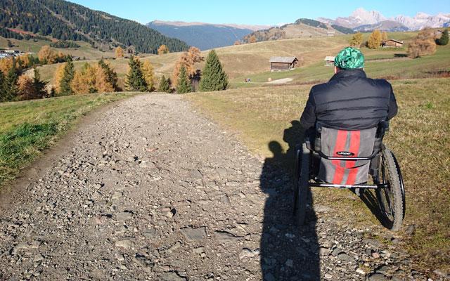 Weg mit groben Steinen in Richtung Spitzbühl