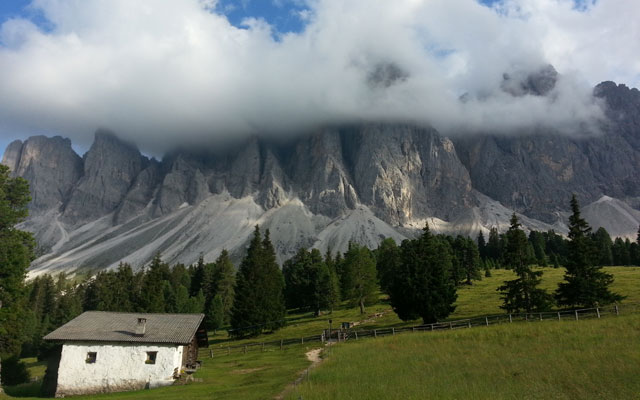 View of the Geisler peaks