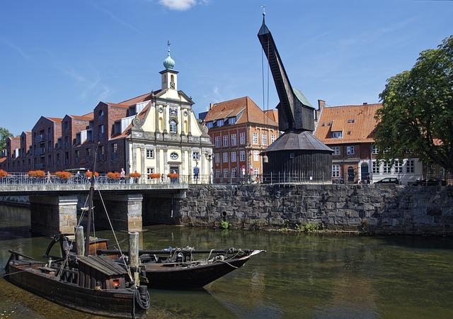 Vecchia gru allo stint di Lüneburg