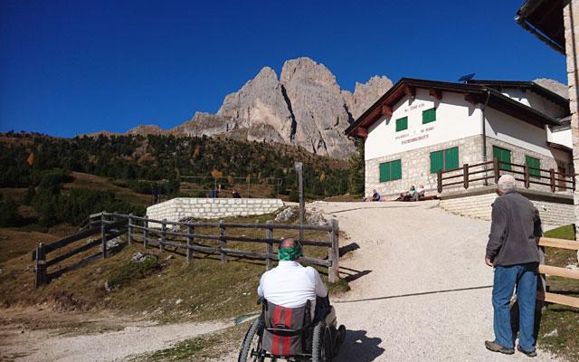 Arrivo alla Regensburger Hütte