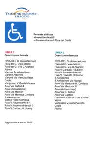Fermate accessibili del Trentino trasporti nel nord del lago di Garda