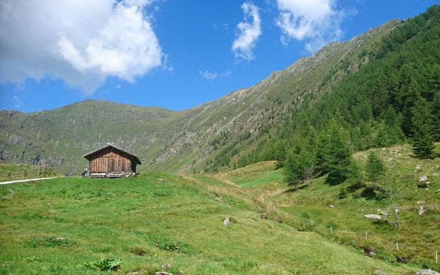Vista di un rifugio alpino