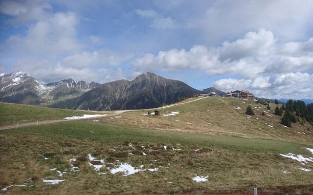 View of the Jochtal mountain restaurant