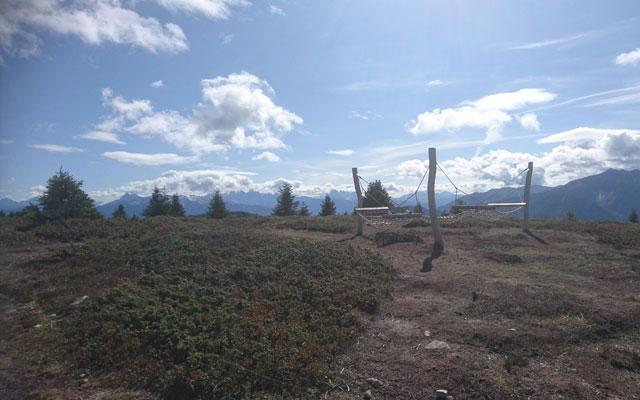 Climbing frame near the Steinermandl