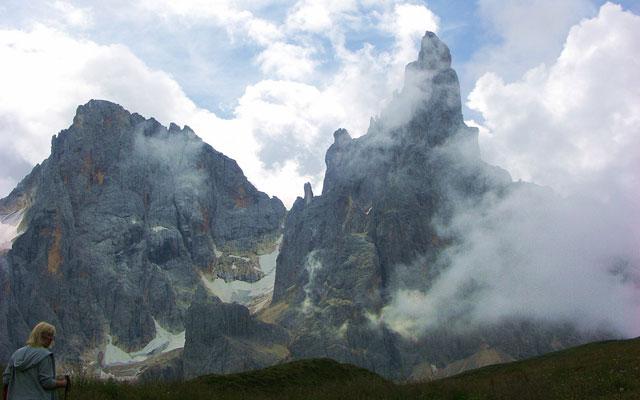 View of the Cima delle Pala