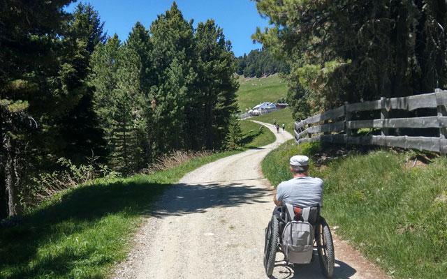 Zur Klausner Hütte: Weg kurz vor der Hütte